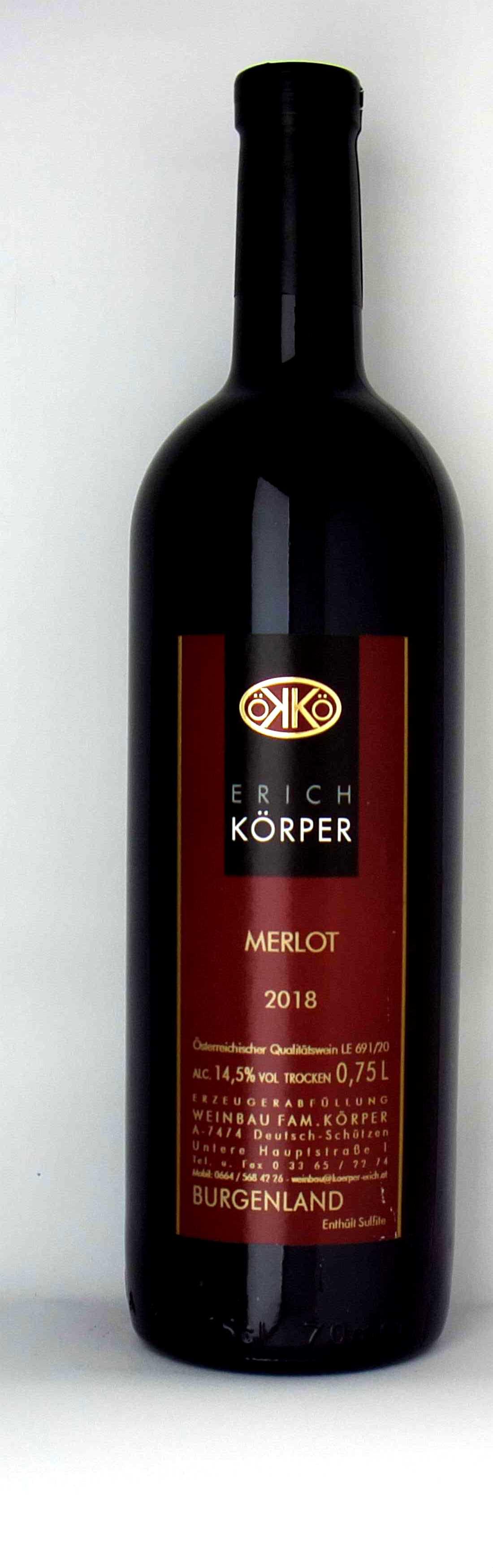Vinothek Eisenberg Merlot 2018 Körper Erich